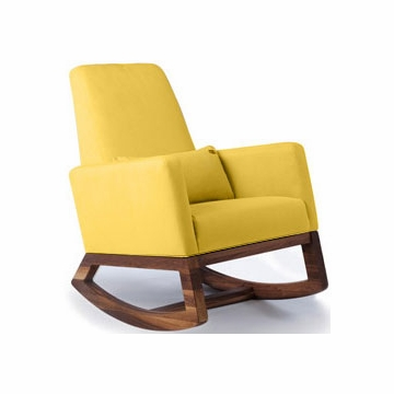 Monte Design Joya Rocker Walnut Base in Yellow