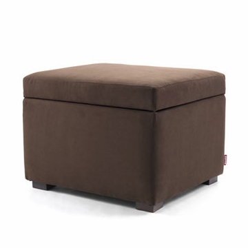 Monte Design Storage Ottoman in Bonded Leather Brown
