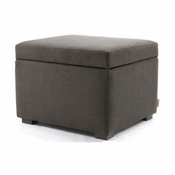 Monte Design Storage Ottoman in Charcoal