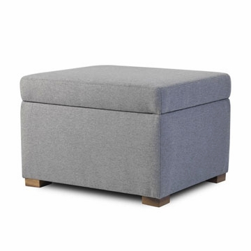 Monte Design Storage Ottoman in Heather Grey
