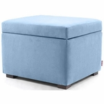 Monte Design Storage Ottoman in Light Blue