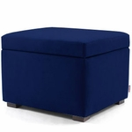 Monte Design Storage Ottoman in Navy Blue