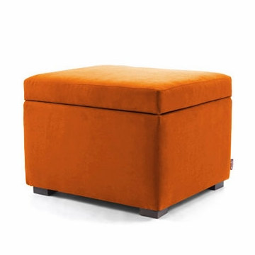 Monte Design Storage Ottoman in Orange