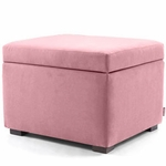 Monte Design Storage Ottoman in Pink