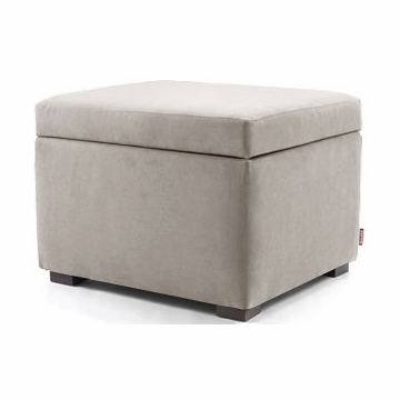Monte Design Storage Ottoman in Stone