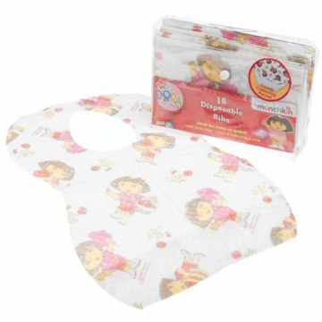Munchkin Disposable Bibs - Dora the Explorer - 16 Pack