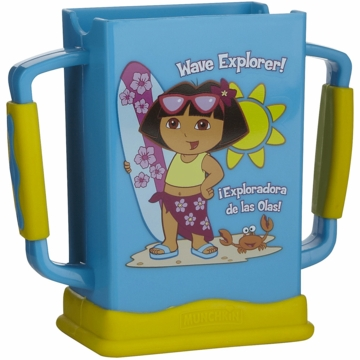 Munchkin Dora the Explorer Grip N Sip Juice Box Carrier in Blue