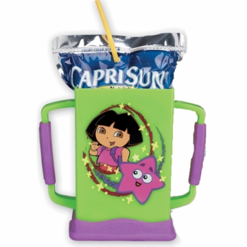 Munchkin Dora the Explorer Grip N Sip Juice Box Carrier in Green
