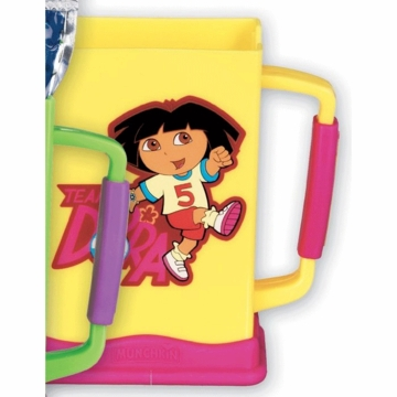 Munchkin Dora the Explorer Grip N Sip Juice Box Carrier in Yellow