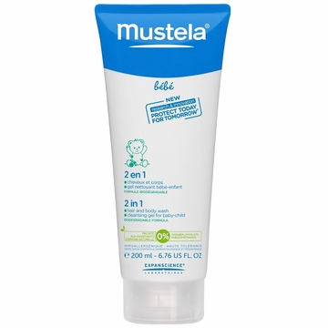 Mustela 2 in 1 Hair & Body Wash, 6.76 oz