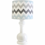 My Baby Sam Chevron Baby Aqua Lamp