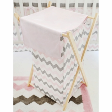 My Baby Sam Chevron Baby Pink Hamper