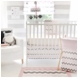 My Baby Sam Chevron Baby Pink 3 Piece Crib Bedding Set