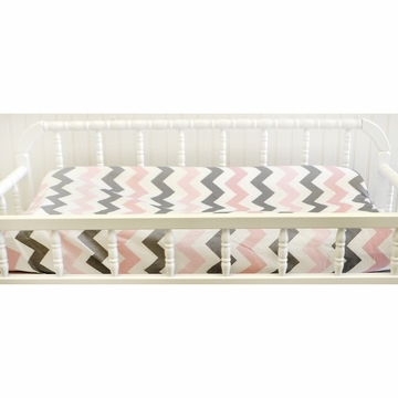 My Baby Sam Chevron Baby Pink Changing Pad Cover