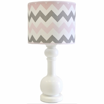 My Baby Sam Chevron Baby Pink Lamp