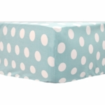 My Baby Sam Pixie Baby Aqua Polka Dot Crib Sheet
