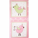 My Baby Sam Pixie Baby Pink 2 Piece Wall Art