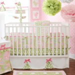 My Baby Sam Pixie Baby Pink 3 Piece Crib Bedding Set