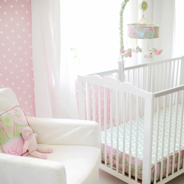My Baby Sam Pixie Baby Pink Bumperless Crib Sheet