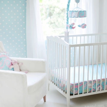 My Baby Same Pixie Baby Blue Bumperless Crib Sheet