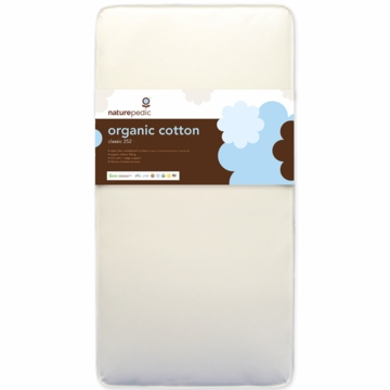 Naturepedic MC30 No-Compromise Organic Cotton Classic 252 Coil Baby Crib Mattress