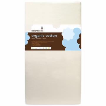 Naturepedic MC32  Dual Firmness Seemless Organic Cotton Ultra Crib Mattress