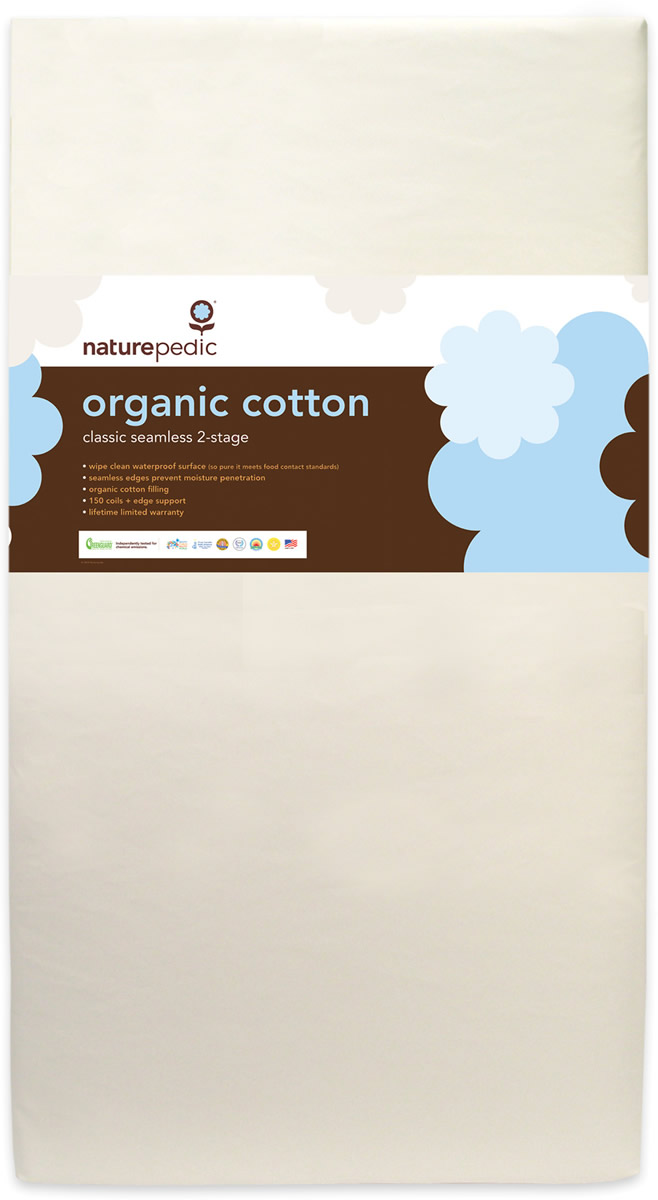 Naturepedic MC32 Seemless Organic Cotton Classic Baby Mattress