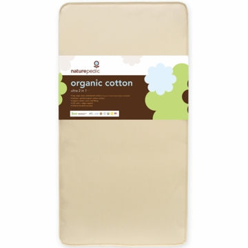 Naturepedic MC45 Combo 2 in 1 Organic Cotton Ultra Crib Mattress