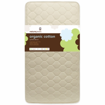 Naturepedic MC50 Quilted Deluxe Organic Cotton Crib Mattress
