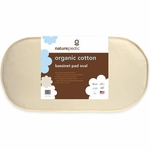 Naturepedic Organic Cotton Oval Bassinet Mattress 14x29x1.5 - Natural