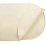 Naturepedic Organic Cotton Waterproof Flat Oval Bassinet Pad - Natural