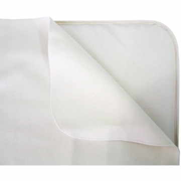 Naturepedic Waterproof Organic Cotton Flat Protector Pad for Crib Mattress - Natural