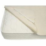 Naturepedic Waterproof Organic Cotton Protector Pad with Straps for Full Size Mattress