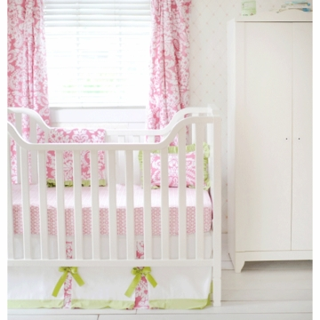 New Arrivals Bloom in Pink 2 Piece Crib Bedding Set