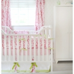 New Arrivals Bloom in Pink 4 Piece Crib Bedding Set