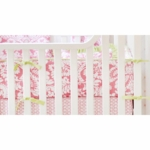 New Arrivals Bloom in Pink Crib Bumper