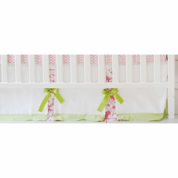 New Arrivals Bloom in Pink Crib Skirt