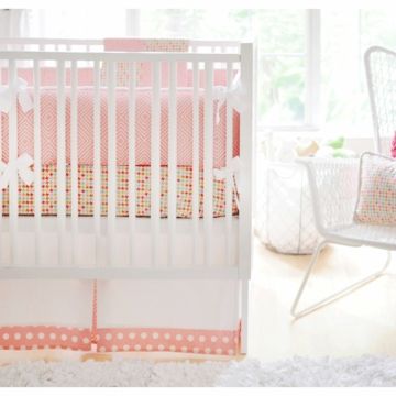 New Arrivals Brooklyn 3 Piece Baby Crib Bedding Set