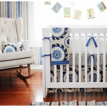 New Arrivals Dakota Blue 2 Piece Baby Crib Bedding Set