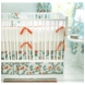 New Arrivals Feather Your Nest in Aqua 3 Piece Baby Crib Bedding Set