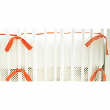 New Arrivals Feather Your Nest in Aqua Crib Bumper