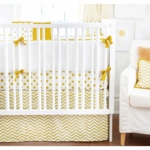 New Arrivals Gold Rush 3 Piece Crib Bedding Set