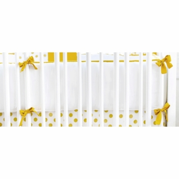New Arrivals Gold Rush Crib Bumper