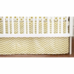 New Arrivals Gold Rush Crib Skirt