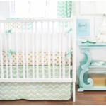 New Arrivals Gold Rush in Mist 4 Piece Crib Bedding Set