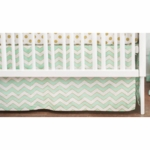 New Arrivals Gold Rush in Mist Crib Skirt