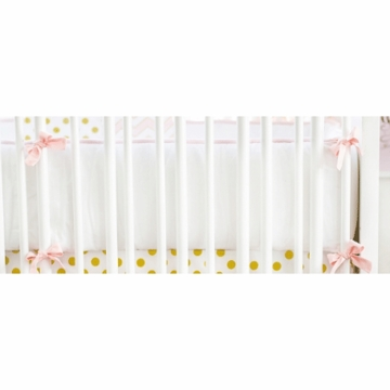 New Arrivals Gold Rush in Pink Crib Bumper