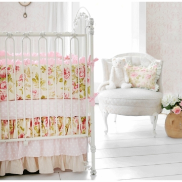 New Arrivals In Full Bloom 2 Piece Crib Bedding Set