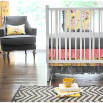 New Arrivals Lemon Drop 2 Piece Crib Bedding Set