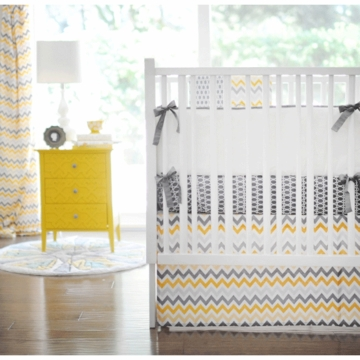 New Arrivals Mellow Yellow 3 Piece Crib Bedding Set